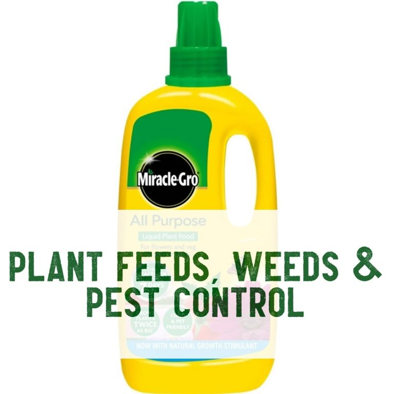 plant feed, weed killer